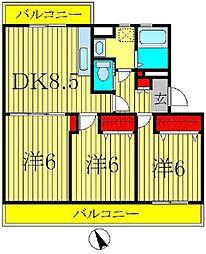 オリーブガーデン[3階]の間取り