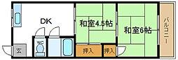 柴田コーポ[3階]の間取り