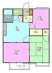 ルーラルハイムB[1階]の間取り