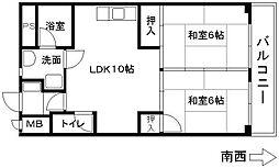 大部ビル[3階]の間取り