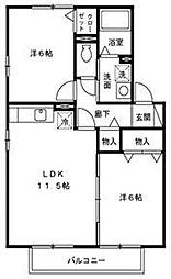 リナウル鵠沼[1階]の間取り