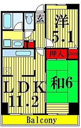 コーポレート竹ノ塚2丁目[501号室]の間取り
