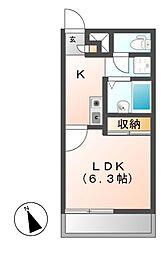 レオパレスフアモ[2階]の間取り