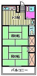 福田コーポ[102号室]の間取り