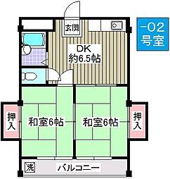 辰巳マンション[102号室]の間取り