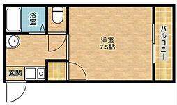 PEARL CITYマンション玉出[4階]の間取り