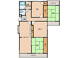 第2みどり館[2階]の間取り