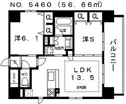 プレサンス四天王寺[301号室号室]の間取り