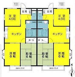 JR五日市線 武蔵増戸駅 徒歩11分の賃貸アパート 1階3DKの間取り