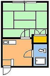 ハイツミヤマ第2[202号室]の間取り