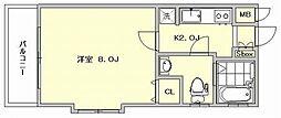 ピュアドーム博多21[3階]の間取り