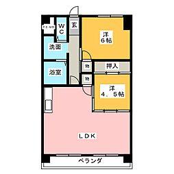 サンハイツ松井[4階]の間取り
