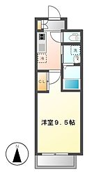 カーサ サクラ 2番館[1階]の間取り