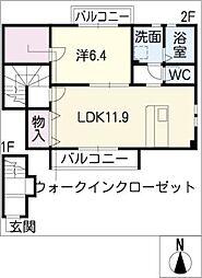 ビューラー松ノ木[2階]の間取り
