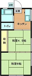 コーポ若竹[2階]の間取り