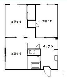 いづみマンションB棟[1階]の間取り