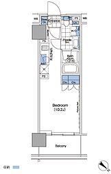 パークハビオ赤坂タワー[15階]の間取り