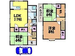 [一戸建] 愛媛県松山市三町2丁目 の賃貸【愛媛県 / 松山市】の間取り