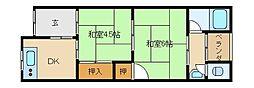 松川文化[2階]の間取り