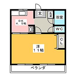 コーポ近藤B[1階]の間取り