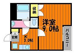 岡山県倉敷市西田の賃貸マンションの間取り