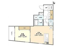 JR中央線 吉祥寺駅 徒歩15分の賃貸マンション 4階1LDKの間取り