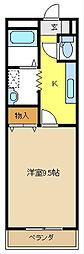 愛知県名古屋市緑区鳥澄2丁目の賃貸アパートの間取り