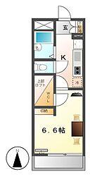 レオパレス亀島[3階]の間取り