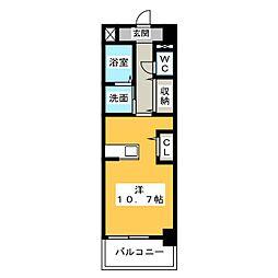 静岡県静岡市駿河区敷地1丁目の賃貸マンションの間取り