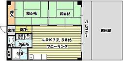 コーポラスサニーサイド[1階]の間取り