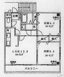 JR五日市線 秋川駅 徒歩15分の賃貸マンション 2階2LDKの間取り