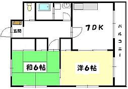 広島県広島市西区三篠町3丁目の賃貸マンションの間取り