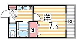 生駒カレッジシティ[405号室]の間取り