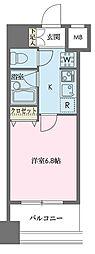 ドゥーエ新川[0604号室]の間取り