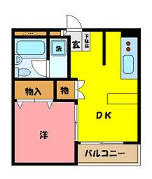 埼玉県さいたま市中央区上峰4丁目の賃貸マンションの間取り