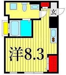 MarineCove西日暮里 5階ワンルームの間取り