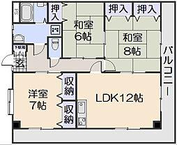 シャトー広本I[2階]の間取り