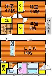 [一戸建] 岡山県倉敷市沖丁目なし の賃貸【/】の間取り