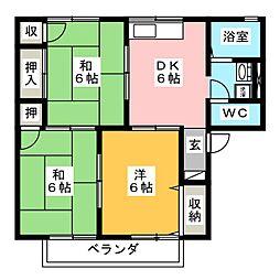 セジュール青木 B棟[2階]の間取り