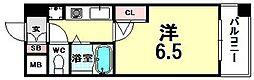 ホープシティー天神橋[2階]の間取り