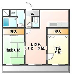コートイケガミ[3階]の間取り