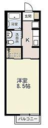 埼玉県さいたま市浦和区前地2丁目の賃貸アパートの間取り