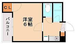 コスモハイツ中央[4階]の間取り