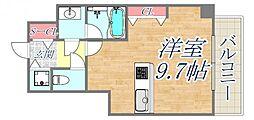 ブランTAT西宮本町2 5階ワンルームの間取り