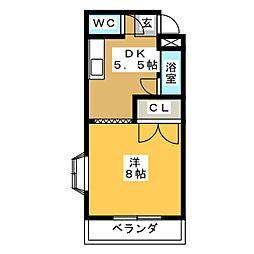 ハイム舞 B棟[2階]の間取り