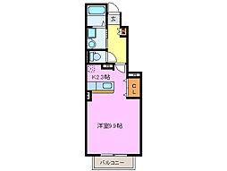 三重県松阪市大津町の賃貸アパートの間取り