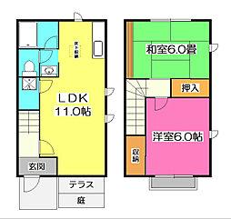 [テラスハウス] 埼玉県新座市野火止4丁目 の賃貸【/】の間取り
