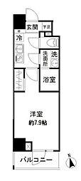 都営大江戸線 新御徒町駅 徒歩7分の賃貸マンション 3階1Kの間取り