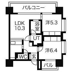 アーデン泉プレミア[8階]の間取り
