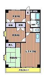 宮野マンション[1階]の間取り